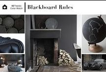 Trend.Color | Blackboard Rules / Color Watch: Blackboard Rules | An emerging trend towards matte black and monochromatic color schemes continue to build – largely influenced by diverse inspirations including after-market automotive paint finishes, Swedish styling cues and the Japanese art of shou sugi ban. Interiors incorporating this sooty shade reflect a subdued, masculine look that's imbued with the tactile quality of chalkboards, coal dust and charred wood.