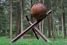 Balls, Beams, and Curves Sculpture Series By Gilbert Boro