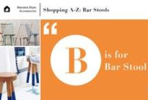 Accessorize.A-Z | Bar Stools / Bar and counter stools can bring in a dose of bright color, an unusual finish or introduce a new style into your space without committing to higher ticket items like sofas or dining tables. From value priced retailers like Target and World Market to design-driven brands such as Moooi and Anthropologie, there are options to suit any style.