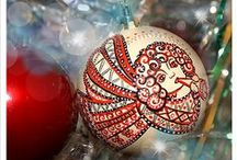 Hand Made Decor / Christmas. New Year. Holiday design, decoration, handmade, drawing, decor, design, christmas ideas.