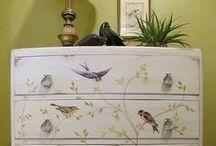 Peintures sur meubles