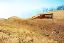 Eco house / Earth house, cave, cob, barack house, living roof, hobbit house, superadobe, organic house, iglu house, dome house, eco dome, eco house, biobuilding, bioconstru / by Franz
