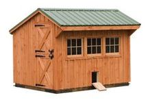 Chicken Coops & Wood Sheds / Our chicken coops and wood sheds are created by our team experienced builders and come in a variety of styles.