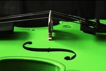 Melody Of Violins / Nontraditional violins of different colors & designs. / by Tara Johnson