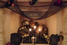 Halloween Mantel Inspiration / Here is how your fireplace may enjoy a spooky Halloween as well.