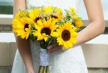 Sunflower Wedding Ideas / Don't you love a sunny event? Big, bright sunflowers are perfect for a country or rustic wedding. With DIY flower kits from itsbyu.com you can make your own sunflower bouquets, boutonnieres, corsages and more. We give you everything you need in one kit to make your own flowers, so you save money, and time, and have lots of fun - no experience required!