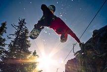 Pray for Powder / snowboarding