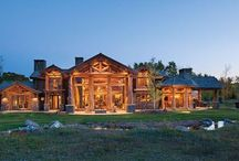 Log home / A collection of log and timberframe homes. / by Calin Yablonski