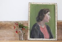 vintage oil portraits