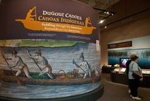 Dugout Canoes: Paddling through the Americas / This object-rich and interactive exhibition produced by the Florida Museum features American dugouts from ancient times to present. Visitors learn how dugout canoes have affected life and travel throughout the Americas, from Florida to the Amazon and the Pacific. This exhibit is available for rental. / by Florida Museum