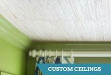 Ceiling Ideas and How-Tos / Add dimension and texture to a boring ceiling with these design ideas.  / by HGTV How-To Library