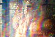 Playing with light / Light diffractions, diffusions, and illusions. Rainbows, kaleidoscopes, prisms, and more