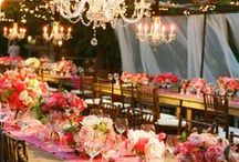 Wedding Decor / Wedding decor inspiration from centerpieces, tablecloths, chairs, flowers, lighting, venues, and more.