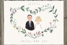 Happily ever after : Save the date & Invitations ♡ / Save the date & wedding invitations