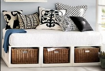 Small space organization / tips and tricks for keeping a small space organized, utilizing wall space and getting creative to maximize the space you have.   home organization, organizing small spaces, apartment organization, organizing ideas