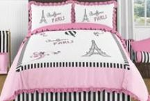 """Paris Is Always A Good Idea / Just like the Audrey Hepburn quote, Baby's Own Room thinks that """"Paris Is Always A Good Idea""""! We are pinning all sorts of Paris themed pins, including showcasing our fun and adorable Paris Bedding Collection. Happy Pinning.  See more at http://www.BabysOwnRoom.com"""