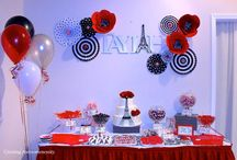 Parisian Inspired Party Ideas / Ideas for a Parisian inspired event