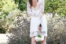 Short Gowns / Short wedding gown trend