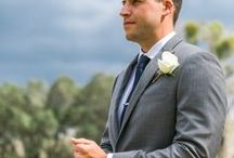 º groom style / Welcome grooms! Looking for a little inspiration for saying I do in style? Take some notes from these grooms & their boys of 2015 & 2016. well tailored suits are something I highly recommend to look your sharpest, and you can personalize your look with some classic accessories- ties, bowties, suspenders, vests, boutonnieres, cufflinks, tie bar, watch, socks, shoes, belt.   boutonnieres, and