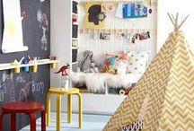 Kids spaces / Kids bedrooms, playrooms, kid room decor, playful home decor