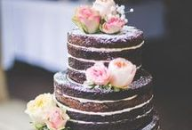 """Naked Cakes Trend / """"Naked"""" cakes are all the rage these days for weddings, parties, and events. The concept is layers of cake with frosting in the middle but no frosting on the sides, so you can see the bare sides of the cake. Often fruit or flowers are used as decorations on naked cakes. This is a trend that everyone should try!"""