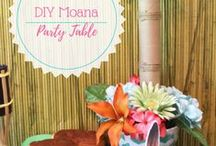 Moana Party Ideas / Moana is coming to save her world! Check out these party ideas, inspired by Disney's newest heroine!