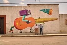 Inspirillation / Street art, graphic art, poster design, bold colours, latin flourishes, wonderful walls.....