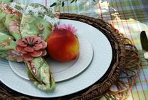 Tablescapes / I adore a lovely table; dinnerware, flatware & linens! / by Robin Reaves