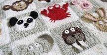 Baby carpet, blanket crochet/Zoo Blanket