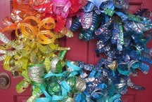 Repurposed Plastic Bottles / Making useful, pretty and unusual things out of throwaways makes me happy!