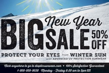 Big New Year Sale! / Sunglasses on sale! Protect your eyes from dangerous UV rays and glare.
