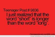 Teenager post and that kind of things