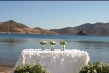 Your wedding at Patmos Aktis Suites & Spa / Be a part of us... Your dream wedding can become true in Patmos, the 'sacred' island of the Mediterranean. In one of the monasteries from the Byzantine period or the white washed small churches all around the island you can share your own vows of love.. http://goo.gl/VX61J1