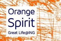 OrangeSpirt / OrangeSpirit is een community binnen ING waar enthousiaste medewerkers hun eigen bijdrage leveren aan een Great Life@ING.