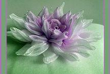 Kanzashi i inne kwiaty