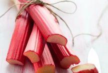 Dessert à la rhubarbe