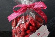 Dessert aux pralines roses
