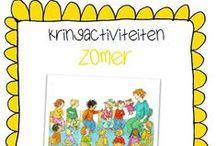 Kleuters Thema: Zomer / Knutsels en andere leuke les-/ ideetjes rondom het thema Zomer