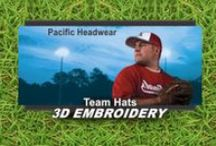 Build a Cap / Hats by Pacific Headwear!  Each Hat Special Includes: - Pacific Headwear Hat - Custom 3D Embroidery Front  - One Price - Free Shipping