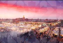 MOR MARRAKECH / The Red City: vibrant markets and exquisite gardens, sandstone buildings, dusty streets and towering minarets against bright blue skies...