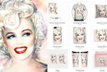 Accessoires for Marilyn-fans /  Marilyn Diva by https://www.facebook.com/TheoDanella ©   Store (canvas, bags, quilt covers, shower curtain, and more…): http://www.merkando.de/theo-danella/    www.facebook.com/TheoDanella ©  SHOPS:  www.theo-danella.pixels.com  www.redbubble.com/de/people/theodanella www.1-angie-braun.pixels.com  www.redbubble.com/people/angiebraun .