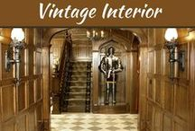 """Vintage Interior Design / Making an attempt to define """"Vintage Interior Design"""", it is a style of decorating the insides of your house on the pattern of what the glamour used to be like in the 1940's era."""
