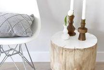 Decorar con troncos / Inspiración para decorar con #troncos, en interior y exterior. #decoracion
