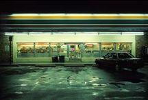 Suburban Melancholy / empty streets, neon lights, lost people, faraway dreams, hopelessness