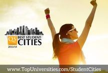 QS Best Student Cities 2013/14 / What makes a great student city? A whole mixture of things, including well-reputed universities, quality of life, employment prospects, a vibrant student community, and of course #affordability. Based on a selection of indicators related to these key areas, the QS Best Student Cities index highlights 50 of the world's best cities for students. #QSBestCities