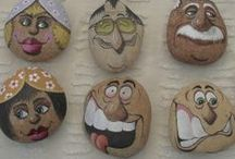 Painted stones and rocks / by Marzia Piccinini