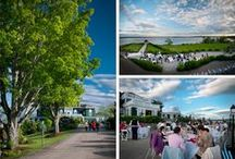 Lisa + Jesse: Real French's Point Wedding / Romantic Wedding on the Coast of Maine. Get married overlooking the ocean in Maine.
