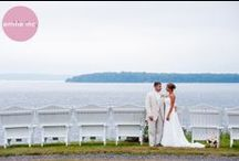 Jacquie + Chris: Real French' Point Wedding / Preppy and romantic wedding at French's Point. Get married overlooking the ocean in Maine.