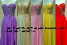 Bridesmaid Dresses / Custom order trendy bridesmaid dresses in beautiful array of colours to match your bridal theme