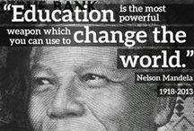 Education Quotes / Why is education so important? Explore #quotes by famous leaders and people and get inspired to bring change. #inspirstion